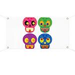 Colored skull Banner