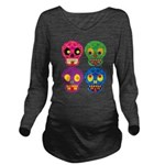 Colored skull Long Sleeve Maternity T-Shirt