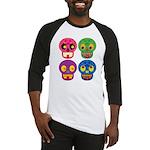 Colored skull Baseball Jersey