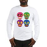 Colored skull Long Sleeve T-Shirt