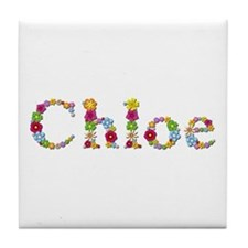 Chloe Bright Flowers Tile Coaster