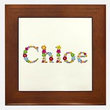 Chloe Bright Flowers Framed Tile