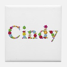 Cindy Bright Flowers Tile Coaster