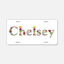 Chelsey Bright Flowers Aluminum License Plate