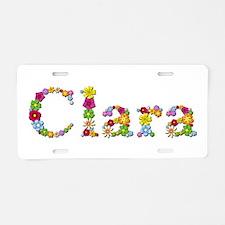 Clara Bright Flowers Aluminum License Plate