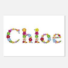 Chloe Bright Flowers Postcards 8 Pack