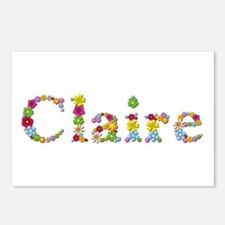Claire Bright Flowers Postcards 8 Pack