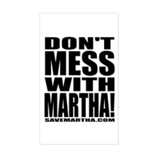 Don't Mess With Martha Sticker (Rect.)