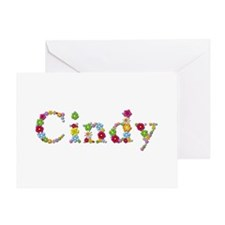 Cindy Bright Flowers Greeting Card