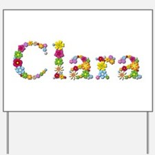 Clara Bright Flowers Yard Sign