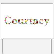 Courtney Bright Flowers Yard Sign