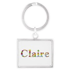 Claire Bright Flowers Landscape Keychain