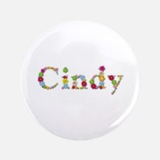 Cindy Bright Flowers Big Button