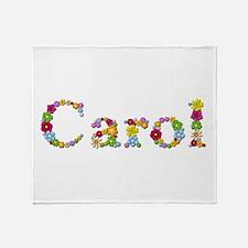 Carol Bright Flowers Throw Blanket