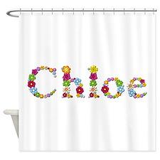 Chloe Bright Flowers Shower Curtain