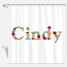 Cindy Bright Flowers Shower Curtain