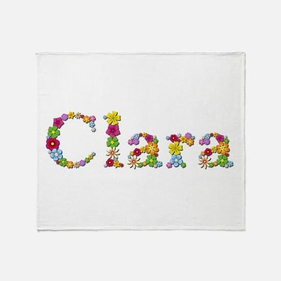 Clara Bright Flowers Throw Blanket
