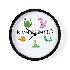 Riverosaurus Wall Clock