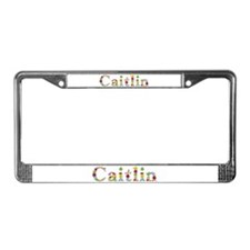 Caitlin Bright Flowers License Plate Frame