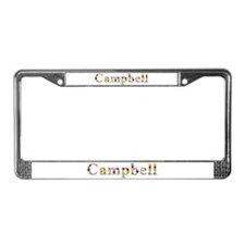 Campbell Bright Flowers License Plate Frame