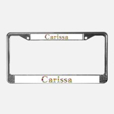 Carissa Bright Flowers License Plate Frame