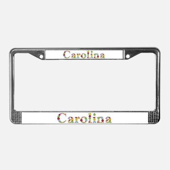 Carolina Bright Flowers License Plate Frame