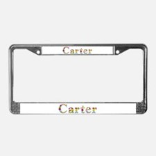 Carter Bright Flowers License Plate Frame