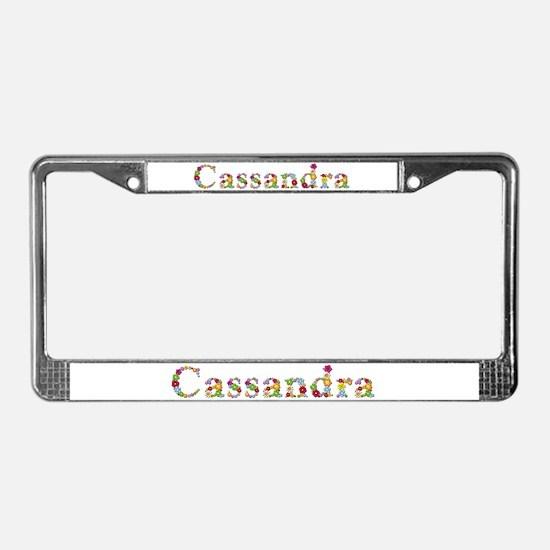 Cassandra Bright Flowers License Plate Frame