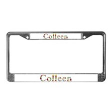 Colleen Bright Flowers License Plate Frame
