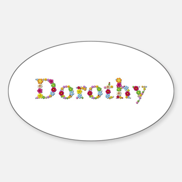 Dorothy Bright Flowers Oval Decal