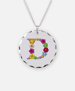 D Bright Flowers Necklace