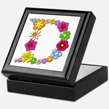 D Bright Flowers Keepsake Box