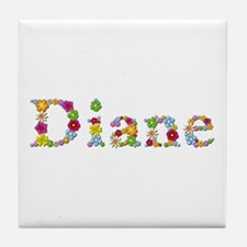Diane Bright Flowers Tile Coaster
