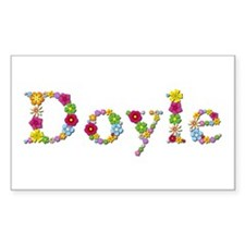 Doyle Bright Flowers Rectangle Decal