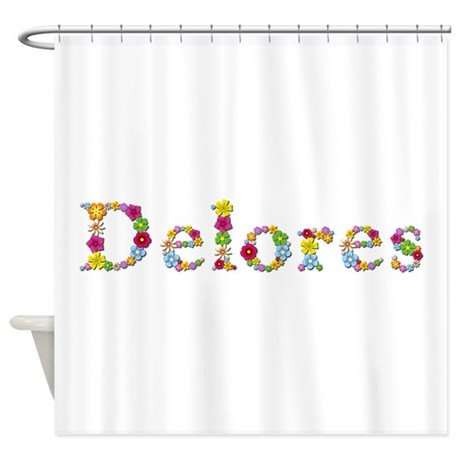delores bright flowers shower curtain by namestuff