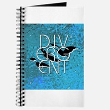 Divergent Black White and Blue Journal