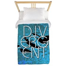 Divergent Black White and Blue Twin Duvet