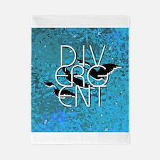 Divergent Black White and Blue Twin Duvet
