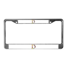 D Bright Flowers License Plate Frame
