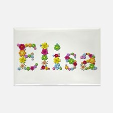 Elisa Bright Flowers Rectangle Magnet