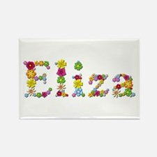 Eliza Bright Flowers Rectangle Magnet