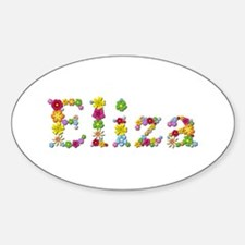 Eliza Bright Flowers Oval Decal
