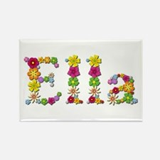 Ella Bright Flowers Rectangle Magnet