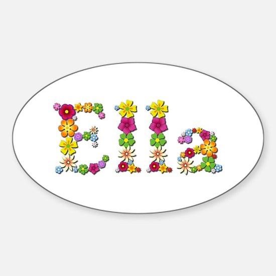 Ella Bright Flowers Oval Decal