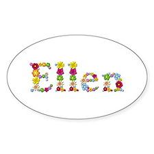 Ellen Bright Flowers Oval Decal