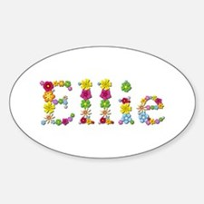 Ellie Bright Flowers Oval Decal