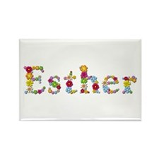 Esther Bright Flowers Rectangle Magnet