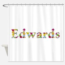 Edwards Bright Flowers Shower Curtain