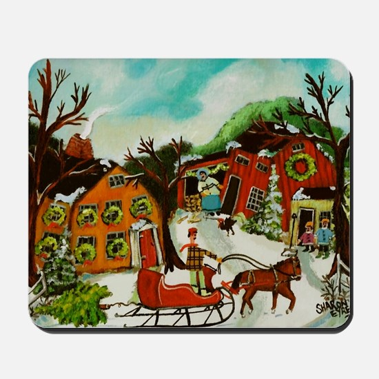 Fetching the Christmas Tree Mousepad