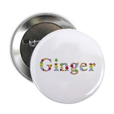 Ginger Bright Flowers Button